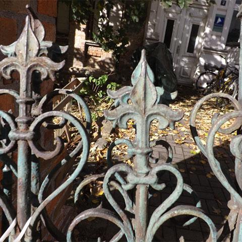Antiker Gartenzaun